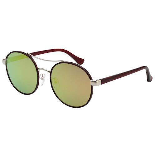 Calvin Klein- 復古款 水銀面 太陽眼鏡(深紅色)CK1228SK