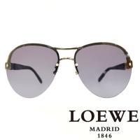 LOEWE 西班牙皇室品牌羅威 LOGO三環鎖鏈太陽眼鏡 黑色  SLW379~0568