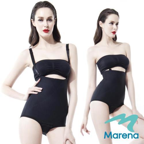 【美國原裝Marena】腹部加強 美體塑身衣(肩帶可拆) 黑