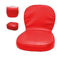 椅子 和室椅 馬卡龍手提式收納和室椅 紅 KOTAS