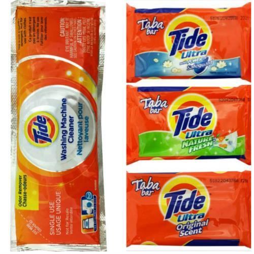 美國Tide洗衣槽清潔劑(75g)*12+Tide洗衣皂(漂白/天然清香/原始香味3款可互搭)*12