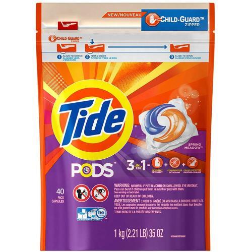 New!【美國 Tide】新一代洗衣凝膠球(1000g/40顆)*3/箱購