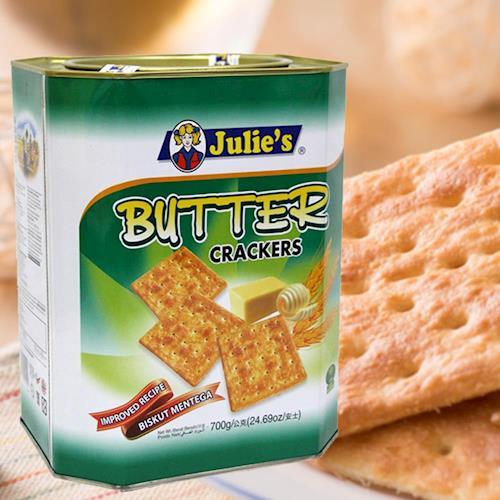 【Julies】茱蒂絲奶油蘇打餅罐裝(700gx6罐/組)