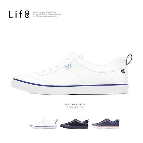 Life8-EDWIN聯名款 Casual 帆布 復古加硫休閒鞋-09699