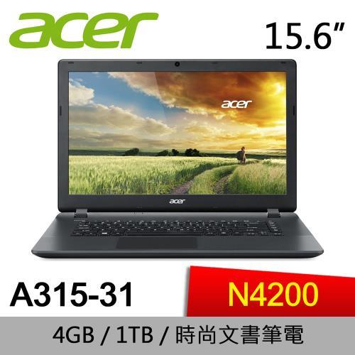 ACER 宏碁 A315-31-P818 入門文書筆電 N4200/4G/1TB