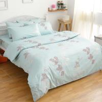 eyah宜雅 全程 製100%精梳純棉 單人床包二件組-飄絮