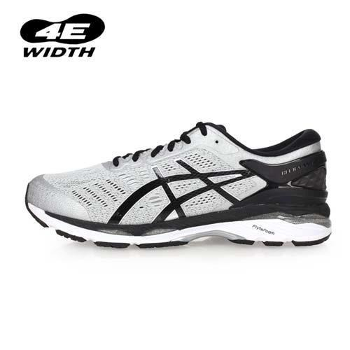 ASICS GEL-KAYANO 24 男慢跑鞋-4E-寬楦 亞瑟士 路跑 淺灰黑