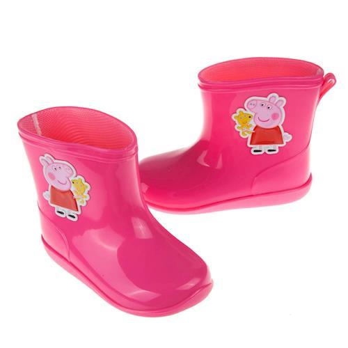 粉紅豬小妹佩佩豬粉色附鞋墊迷你兒童雨鞋(14~17公分) [ A7H539H ] 桃色款