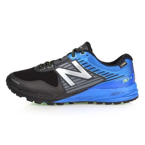 NEWBALANCE 910系列 男越野慢跑鞋-4E-登山 NB 寬楦 黑灰藍