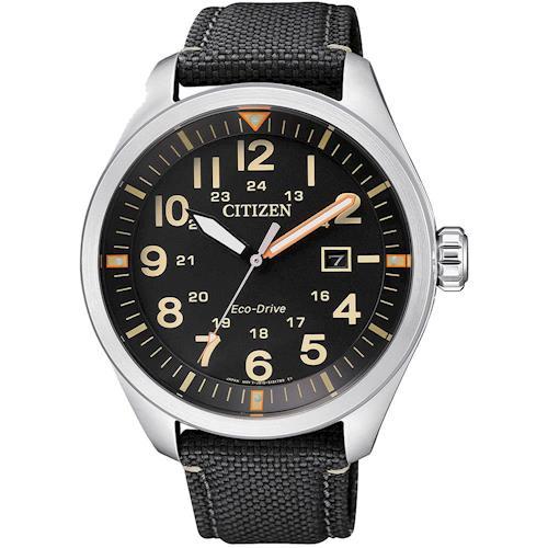 CITIZEN 星辰光動能 即刻倒數 大數字運動錶(黑/42.5mm) AW5000-24E