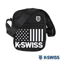 K~Swiss CS~Shoulder Bag休閒斜背包~黑