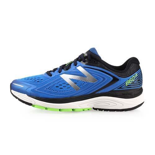 NEWBALANCE 860 V8 男穩定型跑鞋-4E-寬楦 慢跑 愛迪達 藍銀