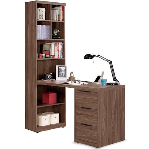 【MY傢俬】歐風低調工業設計4尺L型書桌(三色可選)