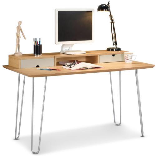 【MY傢俬】簡約工業風木紋4.3尺書桌