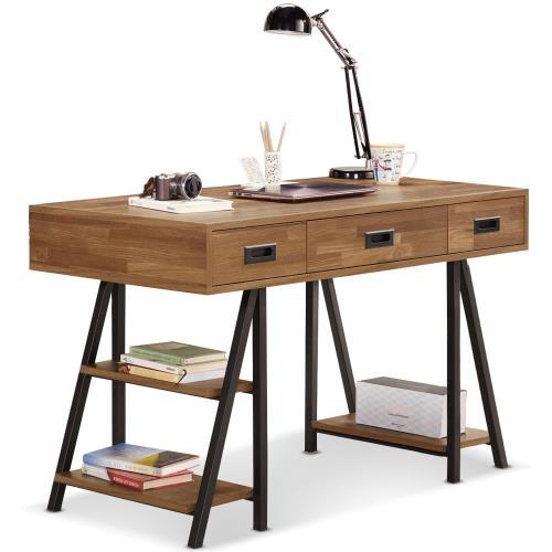 【MY傢俬】設計現代工業風4尺書桌(兩色可選)