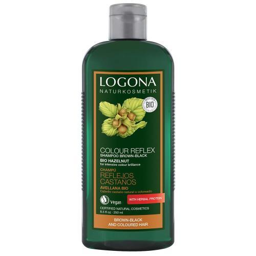 LOGONA諾格那  榛果光澤護色洗髮精(染後棕/黑色系頭髮護色) 250ML