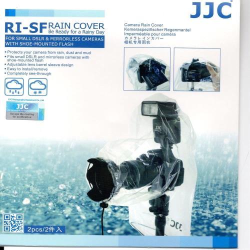 JJC微單眼輕單眼相機雨衣組RI-SF,輕薄透明款(可裝閃燈)
