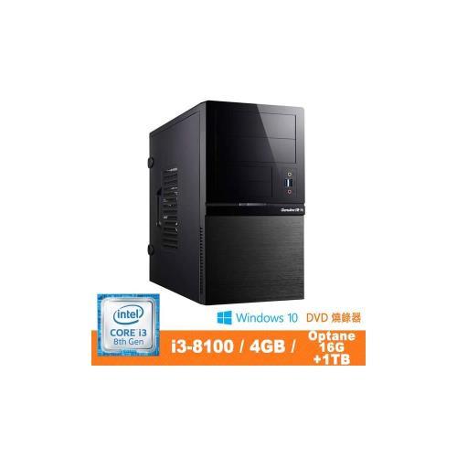 Genuine 捷元 GP888 Optane 8Z-8Q i3-8100四核 Win10Pro 桌上型電腦