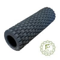 【Fun Sport】滾動力按摩滾輪棒-硬漢灰-40硬度-收納袋 瑜珈滾輪/狼牙棒/滾棒