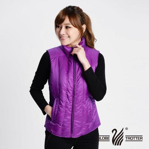 遊遍天下 防風防潑水顯瘦羽絨背心 女款(紫色)