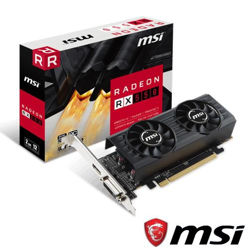 MSI Radeon RX 550 2GT LP OC 顯示卡