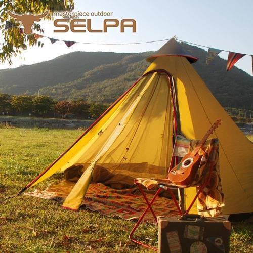 【韓國SELPA】一房一廳 印地安帳 露營 帳篷 家庭帳 五人 大型