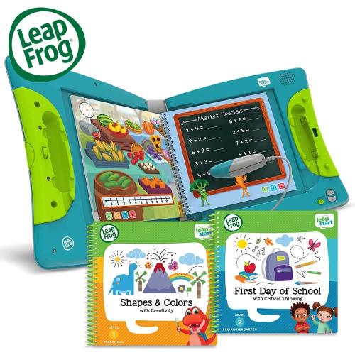 美國[LeapFrog跳跳蛙]★全英兒童行動學習機(含2本點讀書籍)耶誕組合LEAPSTART