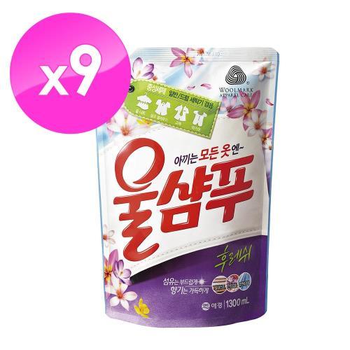 【韓國AK】精緻衣物洗衣精(持久花香型) 1.3L*9包