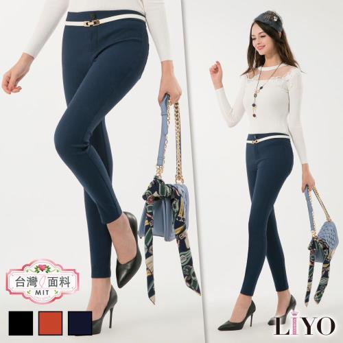 褲子顯瘦窄管MIT直筒高彈活動機能提臀美腿褲LIYO理優專利商品E741017