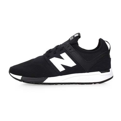 NEWBALANCE 247系列 男復古休閒運動鞋-D-NB N字鞋 黑白