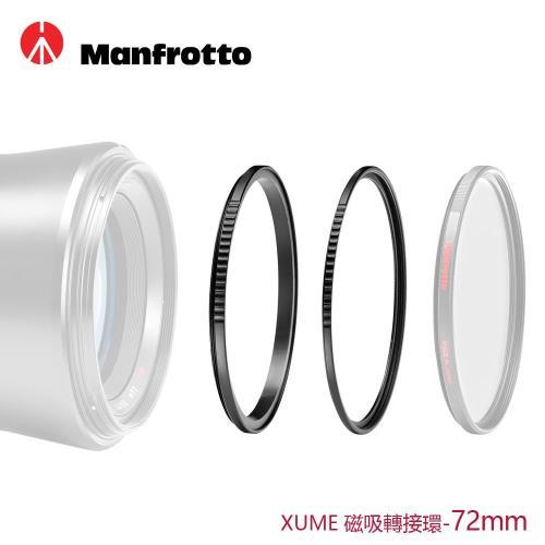 Manfrotto XUME磁吸環組合72mm(轉接環+濾鏡環)