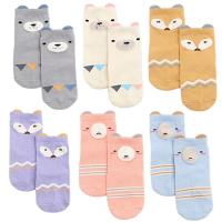 ~3入~嬰兒襪童襪 兒童立體卡通珊瑚絨拼接防滑襪地板襪