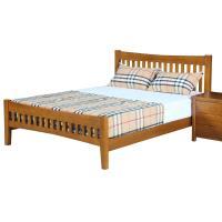 ~AT HOME~伯斯6尺實木柚木色雙人加大床 184~200~100cm ~不含床墊