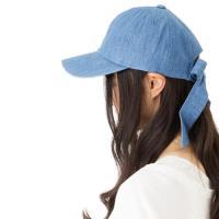 QUEEN~HEAD 抗UV蝴蝶結飄帶防曬鴨舌帽 17051藍色
