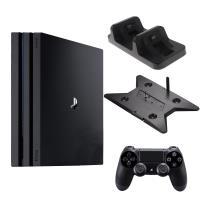 PS4 PRO 7218型 1TB黑+slim/pro雙用直立架+DOBE座充