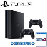 PS4 PRO 7218型 1TB黑+二代黑手把-送DOBE座充