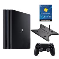 PS4 PRO 7218型 1TB 黑+slim/pro雙用直立架-加送PLUS 12個月