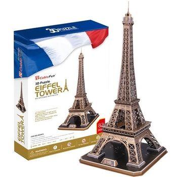 3D Puzzle 世界建築豪華升級版 法國巴黎艾菲爾鐵塔