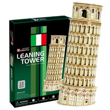 3D Puzzle 世界建築精裝版 義大利比薩斜塔