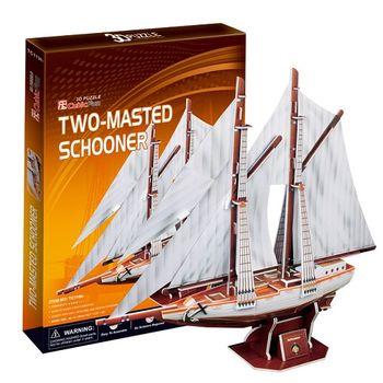 3D Puzzle 古船系列 Two-masted schooner加拿大雙桅縱帆船