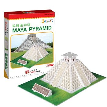 3D Puzzle 迷你建築 墨西哥瑪雅金字塔
