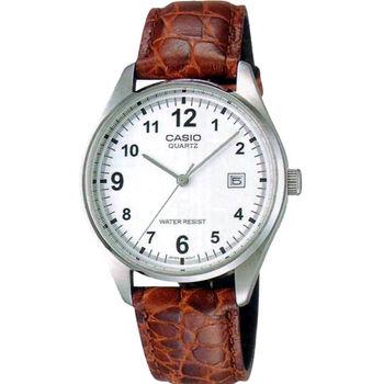 CASIO 指針系列簡潔大方時尚石英男錶