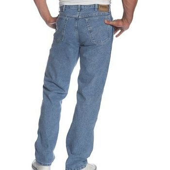【Wrangler】藍哥男耐磨休閒合身復古靛藍牛仔褲(預購)