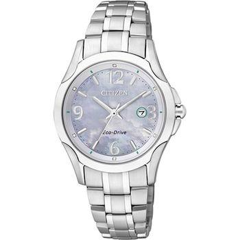 CITIZEN Eco-Drive光動能 藍寶石石英時尚女錶