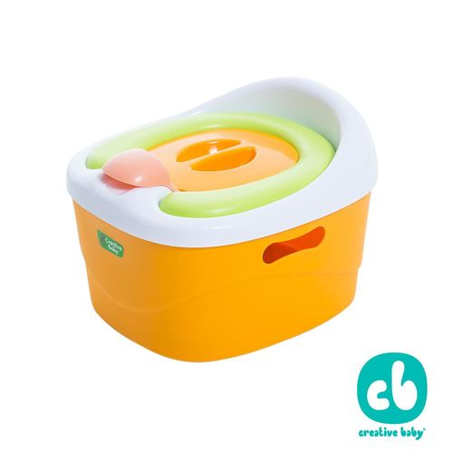 Creative Baby多功能三合一學習軟墊馬桶 橘色(Horseshoe)