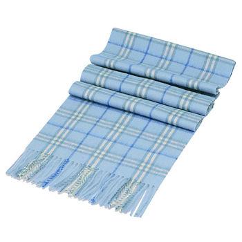 BURBERRY 經典細格紋羔羊毛圍巾(170CM-二色)