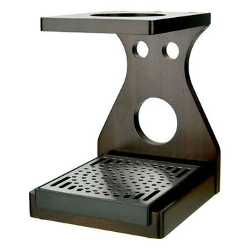 TIAMO-原木質感 手沖架附滴水盤