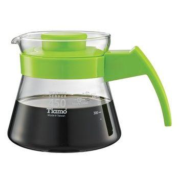 Tiamo 玻璃咖啡壺450cc 弧型把手-HG2210G