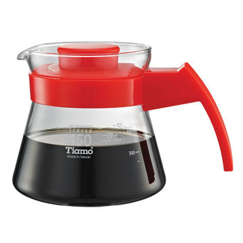 Tiamo 玻璃咖啡壺450cc 弧型把手-HG2210R