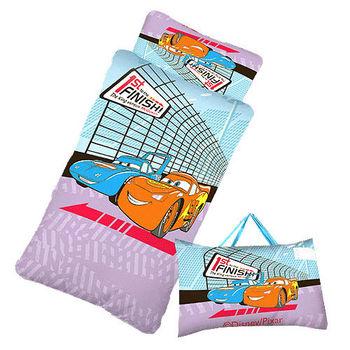 閃電麥坤-CARS賽車篇-幼教兒童睡袋(4*5尺-藍紫)